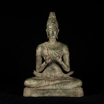 18th Century Antique Thai Hermit / Wise Man Statue - 44cm/18""