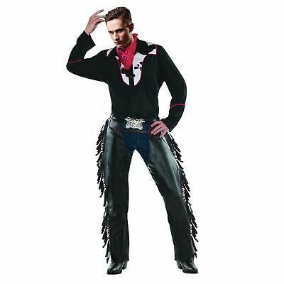 HOMMES ADULTE SAUVAGE Western Cowboy Outlaw Rodéo Sheriff Costume Déguisement
