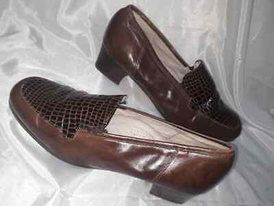 Varese Mocassini Tacco Donna Marrone Tacco Basso Woman Shoes 40 MADE IN ITALY