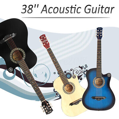 """3/4 Size 38"""" Acoustic Classic Guitar For Beginners Student / Adults 6 Strings"""