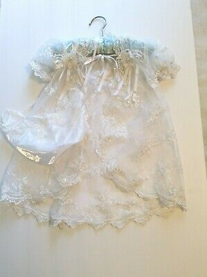 Clothing, Shoes & Accessories Baby & Toddler Clothing Southern Christening Dress W Cape Sheer Antique