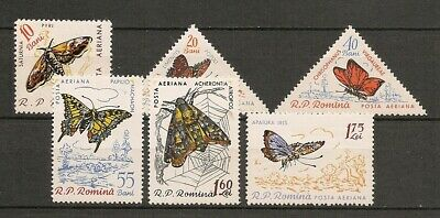 Romania 1960 Insects Butterfly Schmetterlinge Papillons Moths compl. set MNH