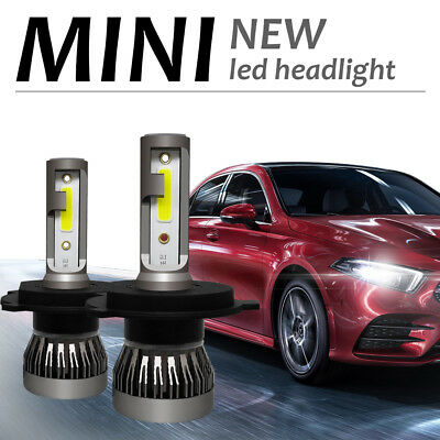 MINI 72W 9000LM LED Headlight HID White 2-Sided Kit Hi/Lo Bulb H4 9003 6000K COB