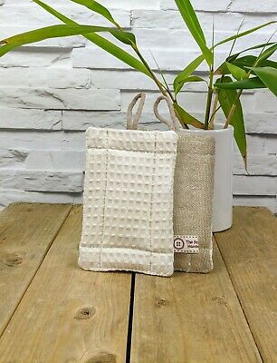 Eco Friendly Washing Nosponge - Handmade dual sided organic cotton bamboo linen