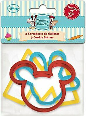 ALMACENESADAN, 0420, Pack 3 cortadores de galletas Disney Mickey Mouse;