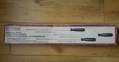 2pc 400mm EXTRA LONG REACH SCREWDRIVER SET Pz2 /& 8mm Slotted Tips Blade Length