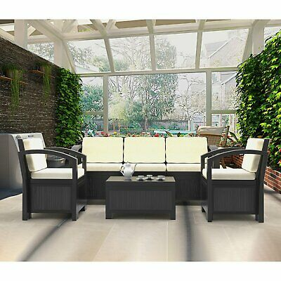 4/5/7pcs Outdoor Furniture Lounge Sofa Set Poolside Table&chairs Patio Setting