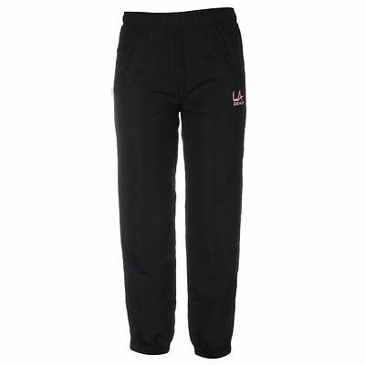 Bnwt  Genuine La Gear Wov Closed Hem Tracksuit Style Bottoms Black / Pink Age 13