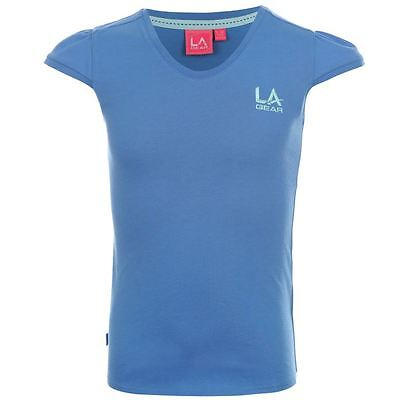 Bnwt 2 X La Gear T Shirts Girls Age 6-7 Years Retail Total 19.98 Pink And Blue