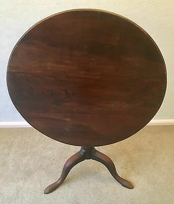 Antique Georgian George III Mahogany Snap / Tilt Top Tripod Table