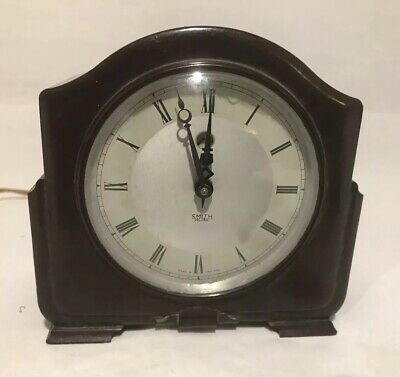 Art Deco Smiths Sectric Bakelite Mantel Clock - Untested
