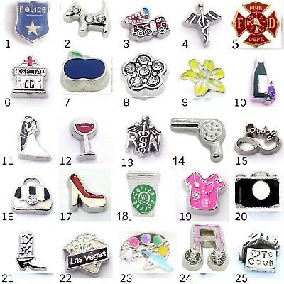 Buy 3, Get 2 See Desc OCCUPATIONS Floating Charm 35+ STYLES for Floating Locket