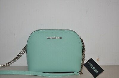 fbb69d1bfd Nwt Steve Madden Bmaggie Dome Crossbody Bag Faux Leather Purse Tote Mint