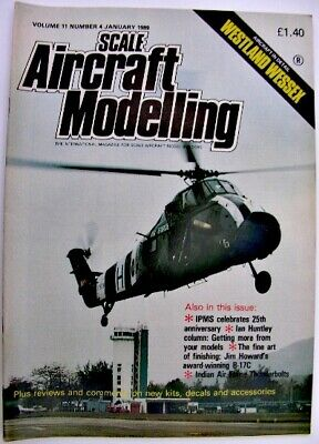 SCALE AIRCRAFT MODELLING 1989 Vol 11 No 4 Westland Wessex Indian Air Thunderbolt