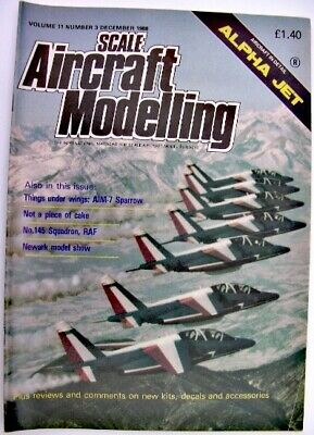 SCALE AIRCRAFT MODELLING 1988 Vol 11 3 Alpha Jet RAF 145 Squadron AIM-7 Sparrow
