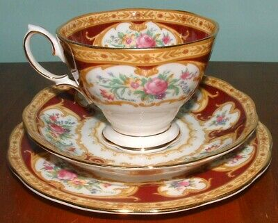 Royal Albert Lady Hamilton trio cup saucer side plate 2nds