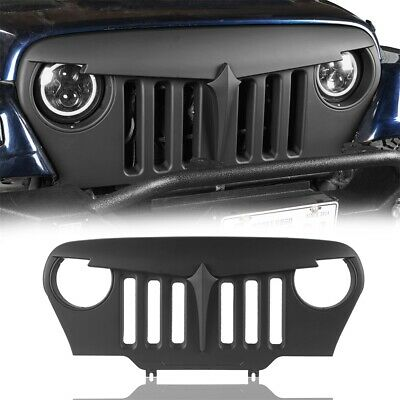 Matte Black Angry Bird Grille ABS Grill Cover for Jeep Wrangler 1997-2006 TJ