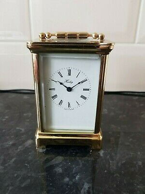 Superb Henley 3560 carriage clock, brass cased mechanical movement