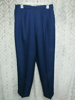 Lucky Britches Dress Pants Size 34 Blue 1/2 Elastic Waist Pleated Pockets Career