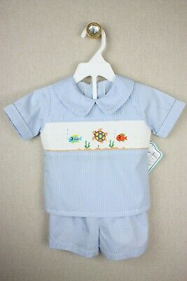 NEW Remember Nguyen Under the Sea Smocked Set 2 2T *READ* RN541