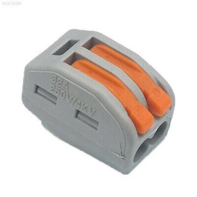 2E88 2pin Terminal Block Cable Spring Lever Durable Electric Cable Connectors