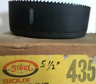 """SIOUX 435 HIGH SPEED STEEL 5-1/2"""" (5.5) 140 mm HOLE SAW METAL CUTTING USA NEW!"""
