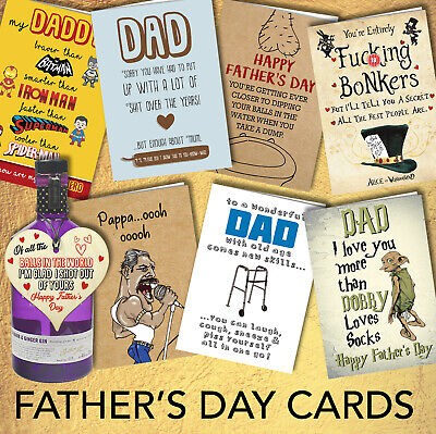 Funny Rude Fathers Day Greeting Card Dad Daddy Step Birthday Cheeky Banter Joke