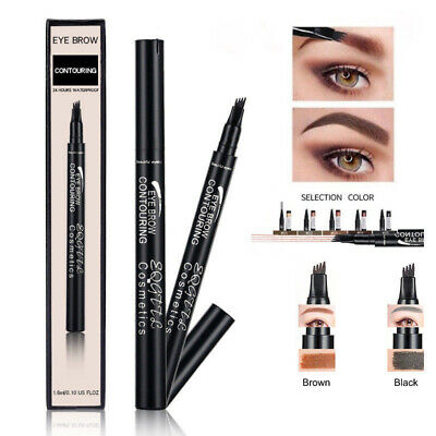 Stylo à encre à sourcils Microblading Tattoo Makeup Waterproof 4 fork Brow