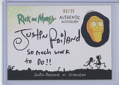 Cryptozoic Rick and Morty 2 Justin Roiland AUTOGRAPH #3/25 Cromulon INSCRIBED