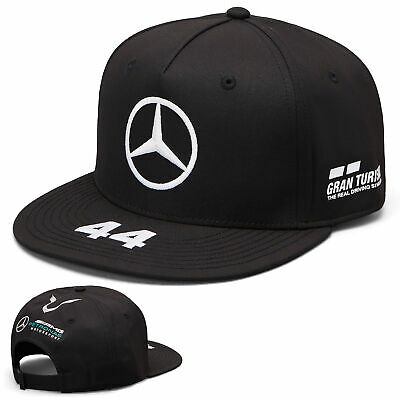2019 Lewis Hamilton F1 Black Flatbrim Cap Official Mercedes-AMG Formula One Team