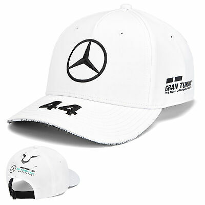 2019 Lewis Hamilton F1 White KIDS Cap Children's Size Mercedes Formula One Team