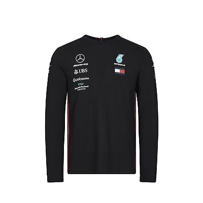 2019 Mercedes-AMG F1 Official Mens Long Sleeve T-Shirt Hamilton Tommy Hilfiger