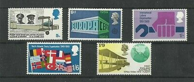 Great Britain 1969 Notable Anniversaries Mnh
