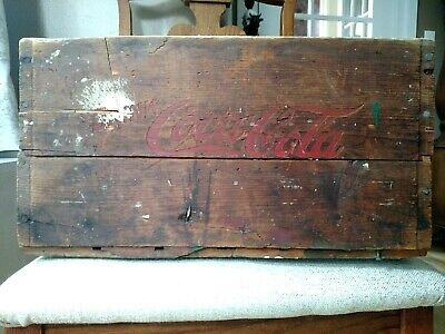 Vintage Red Lettering COCA-COLA Deep Wooden Case Crate