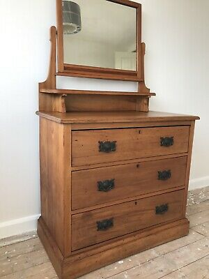 Late Victorian Early Edwardian Satinwood Pine Dresser chest