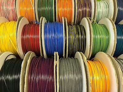 85 COLOURS TO CHOOSE FROM - 1mm² cable, 5m, 16.5A 12v auto car wire wiring loom