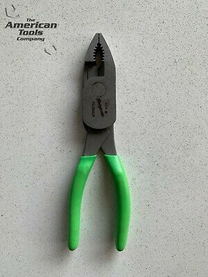 """*NEW* Snap On 7-7/8"""" Green Combination Pliers HL138ACPG"""