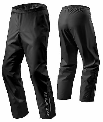 Pantaloni Moto Scooter Rev'it Acid H2O Impermeabile Antipioggia Nero Tg Xxl