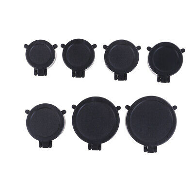 Outdoor Hunting Rifle Scope Cover Flip Up Black Cap Open Objective Lens EyeFBDU