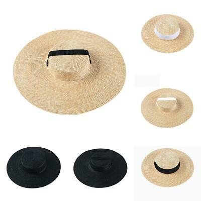 Brim Hat Beach Tie In Cap Hat For Ribbon Boater Women Straw Summer Wide Sun