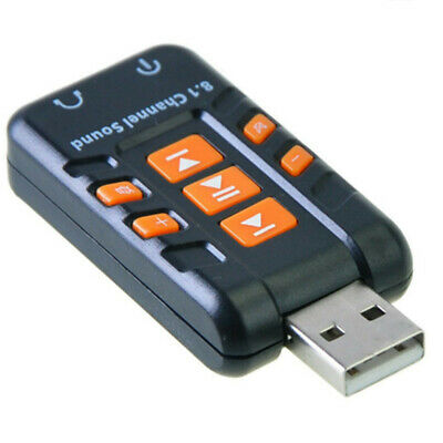 USB 2.0 3D Virtual 12Mbps External 8.1Channel Audio Sound Card Adapter
