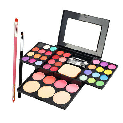 Pro Facial Cheek Makeup Comestics Powder Palette with Cream Makeup Brush Kit