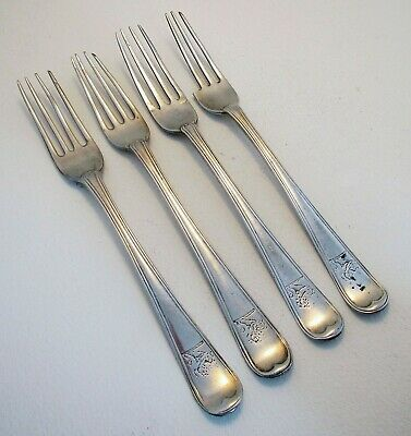 18th-Century 1787 IRISH George III Georgian Solid Sterling Silver Dessert Forks