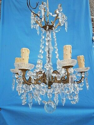Antique French,Gorgeous bronze and crystal chandelier,attributed to Baccarat,19t