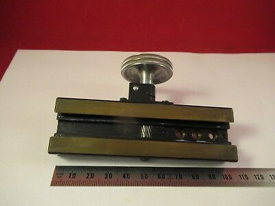Leitz Germany Pol Stage Micrometer Microscope Part As Pictured &Ft-4-78