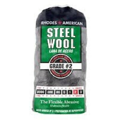 Rhodes American Steel Wool Grade 2 - Medium Coarse 12 Pads Per Pack