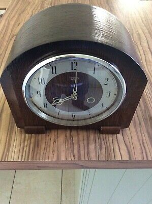 Smiths Enfield  Oak  Cased Mantel Clock With Chimes