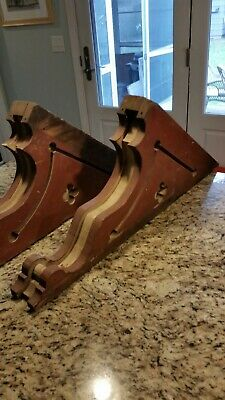 Vintage Antique Architectural Salvage Wood Corbels Victorian Original 1875