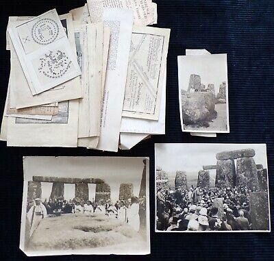 Early Photos and Documents Related to Stonehenge, Order of Druids