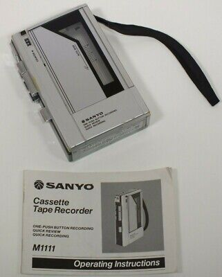 Vintage SANYO M1111 - Portable Mono Cassette Tape Recorder / Player Walkman